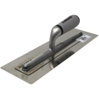 Bellota 0.3 mm stainless steel trowel with bi-material open handle for stucco and microcement work