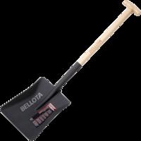 Bellota Pala cuadrada mango muleta para cavar y recoger escombros