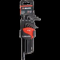 Bellota Conjunto de 9 chaves Torx para trabalhos de aperto