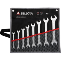 Bellota Set of 8 double open-end wrenches for tightening and adjusting all kinds of bolts