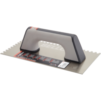 Bellota Square notched trowel for preparing surfaces for tiling.