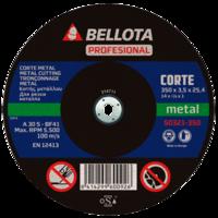 Bellota Disco abrasivo corte metal para máquina estacionaria