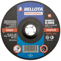 Bellota Disco abrasivo desbaste inox -metal blando