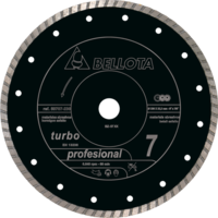 Bellota Disco para materiais abrasivos. Turbo. Profissional. Corte seco.