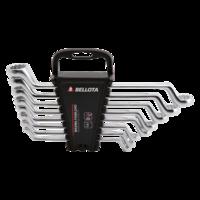 Bellota Jeu de 8 clés fermées coudées pour le serrage et ajustement de tout type de vis