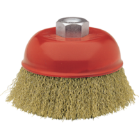 Bellota Industrial cup brush for use on large metal surfaces with angle grinders.