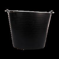 Bellota 26L BLACK PLASTIC BUCKET WITH METHAL HANDLE