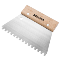Bellota Square notched grout spreader for preparing surfaces for tiling.